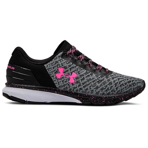 UNDER ARMOUR WOMEN'S CHARGE ESCAPE 2 RUNNING SHOE BLACK/WHITE/MOJO PINK