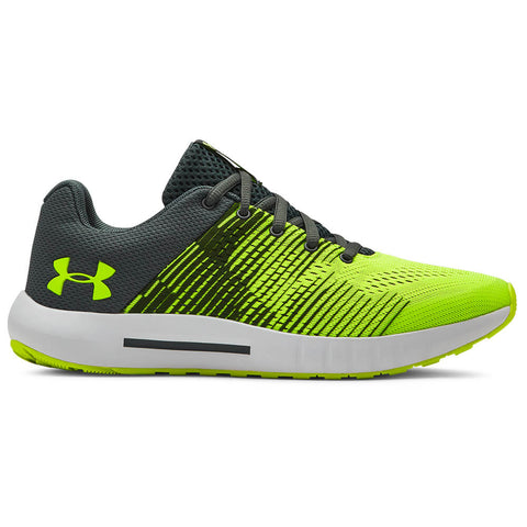 UNDER ARMOUR BOYS GRADE SCHOOL PURSUIT NG KIDS SHOE PITCH GREY/YELLOW/YELLOW