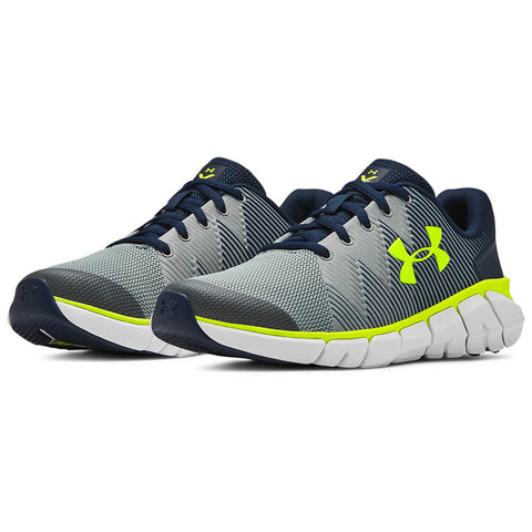 UNDER ARMOUR BOYS GRADE SCHOOL X LEVEL SCRAMJET 2 KIDS SHOE GREY/BLUE/ORANGE
