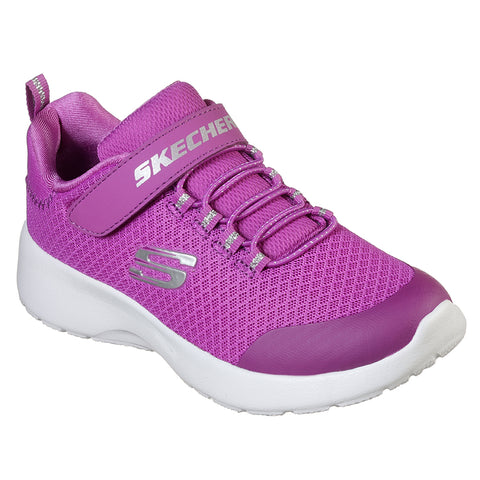 SKECHERS GIRLS PRE-SCHOOL DYNAMIGHT-RALLY RACER KIDS SHOE PINK/PURPLE