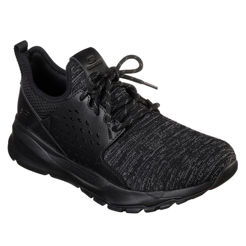 SKECHERS MEN'S RELVEN-VELTON LIFESTYLE SHOE BLACK