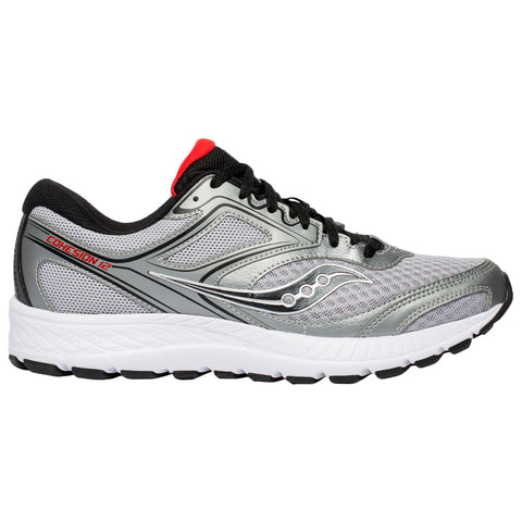 SAUCONY MEN'S VERSAFOAM COHESION 12 RUNNING SHOE SILVER/RED