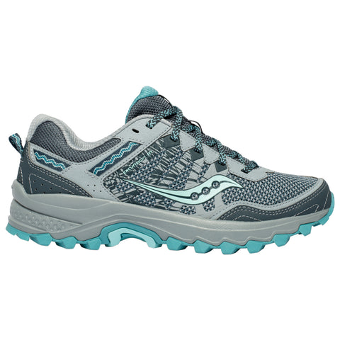 SAUCONY WOMEN'S GRID EXCURSION TR12 RUNNING SHOE GREY/TEAL