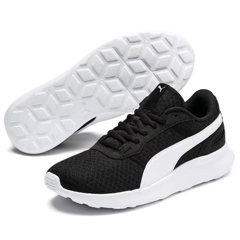 PUMA BOYS GRADE SCHOOL ACTIVATE JR KIDS SHOE BLACK/WHITE
