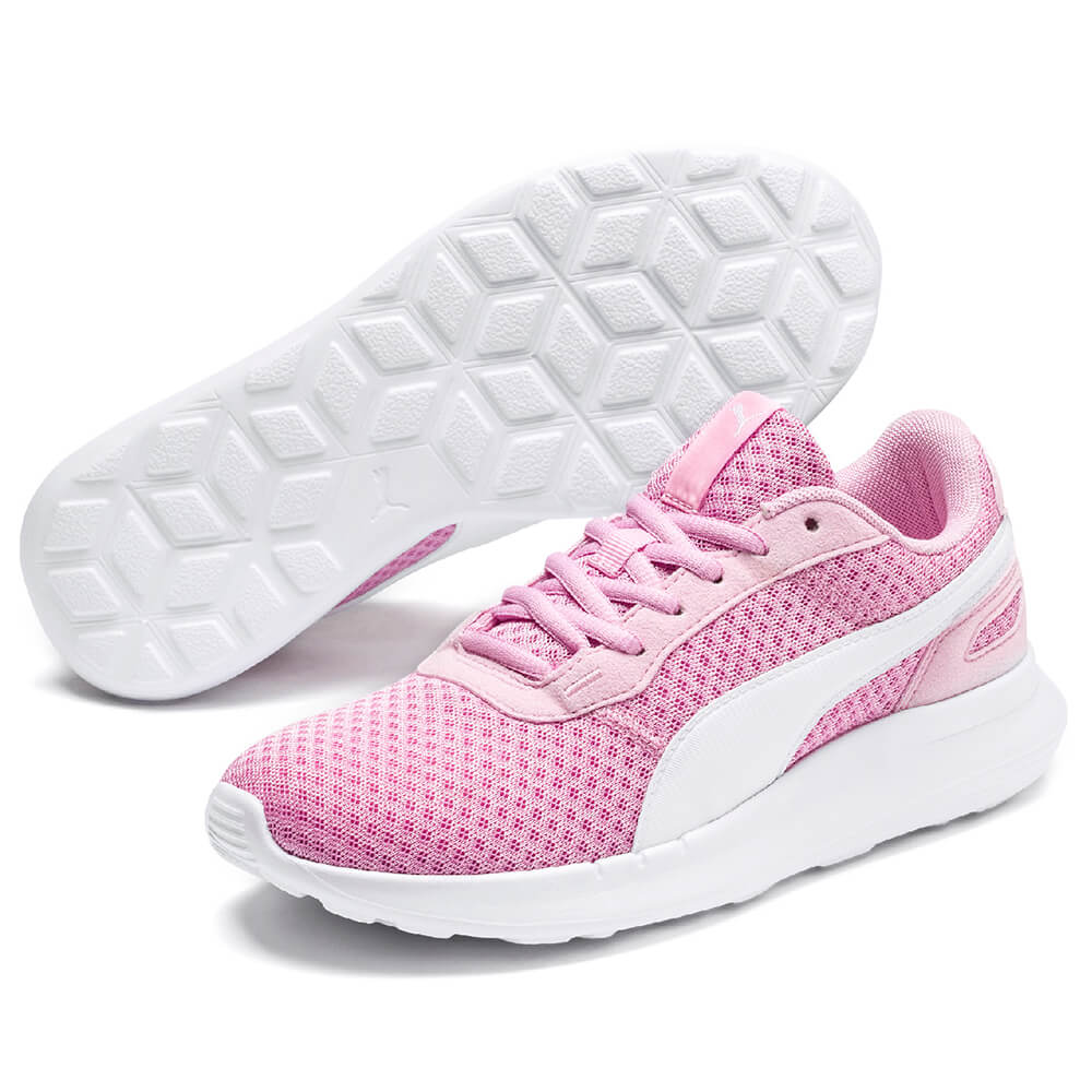 PUMA GIRLS GRADE SCHOOL ST ACTIVATE JR KIDS SHOE PALE PINKWHITE
