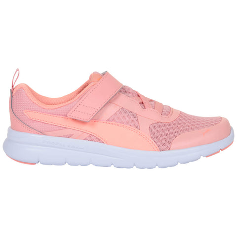 PUMA GIRLS PRE-SCHOOL FLEX ESSENTIAL V KIDS SHOE PEACH BUD/BRIGHT PEACH