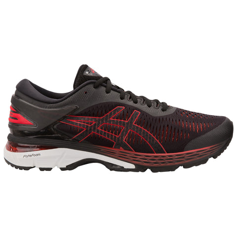 ASICS MEN'S GEL KAYANO 25 RUNNING SHOE BLACK/CLASSIC RED