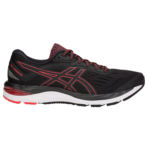 ASICS MEN'S GEL CUMULUS 20 RUNNING SHOE BLACK/RED ALERT