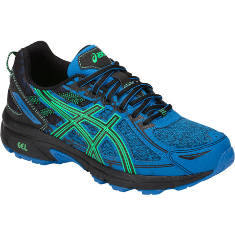 ASICS BOYS GRADE SCHOOL VENTURE 6 KIDS SHOE BLUE/NEW LEAF
