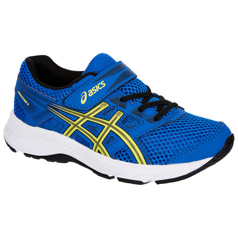 ASICS BOYS PRE-SCHOOL GEL CONTEND 5 KIDS SHOE ILLUSION BLUE/LEMON SPARK