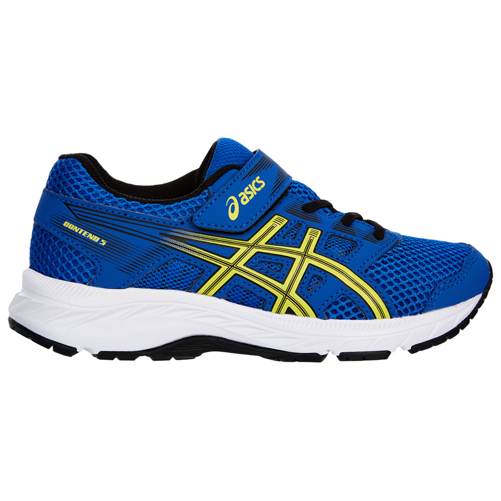 ASICS BOYS PRE SCHOOL GEL CONTEND 5 KIDS SHOE ILLUSION BLUELEMON SPARK