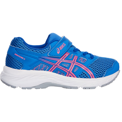 ASICS GIRLS PRE-SCHOOL GEL CONTEND 5 KIDS SHOE BLUE COAST/HOT PINK