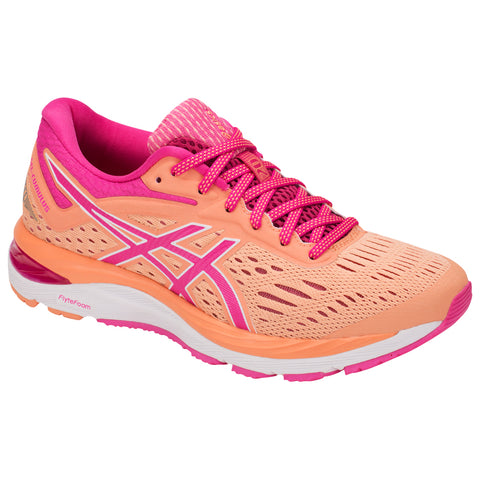 ASICS WOMEN'S GEL CUMULUS 20 RUNNING SHOE MOJAVE/FUSCHIA PURPLE