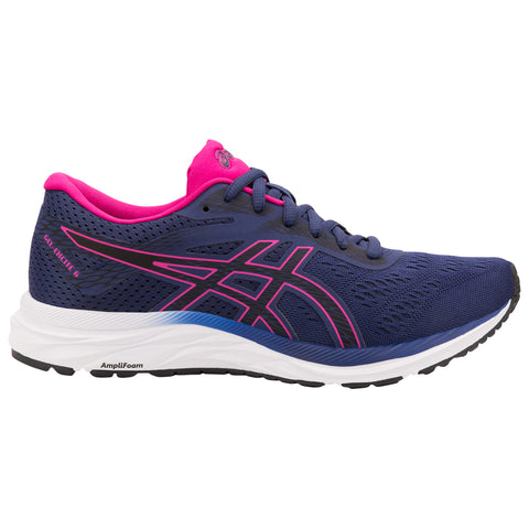 ASICS WOMEN'S EXCITE 6 RUNNING SHOE INDIGO BLUE/PINK RAVE