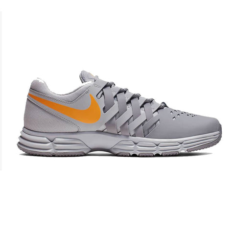 NIKE MEN'S LUNAR FINGERTRAP TRAINING SHOE GREY/ORANGE/GREY