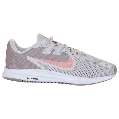 NIKE WOMEN'S DOWNSHIFTER 9 RUNNING SHOE GREY/RUST PINK/PUMICE