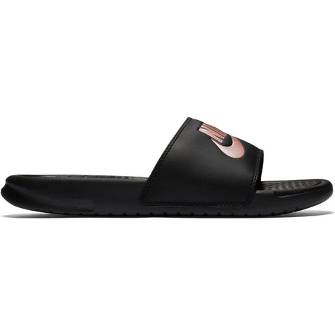 NIKE WOMEN'S BENASSI JDI SLIDE BLACK/ROSE GOLD