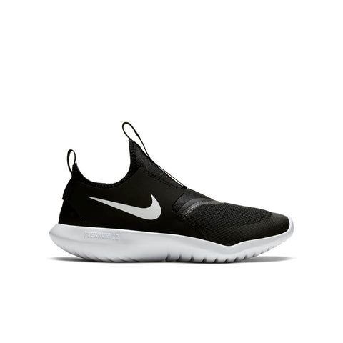 NIKE BOYS GRADE SCHOOL FLEX RUNNER KIDS SHOE BLACK/WHITE
