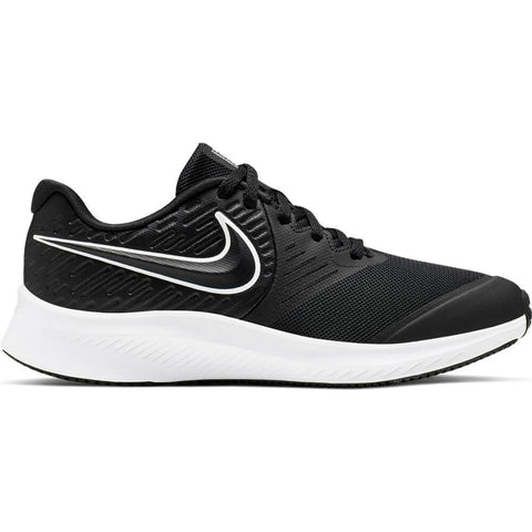 NIKE BOYS GRADE SCHOOL STAR RUNNER KIDS SHOE BLACK/WHITE/BLACK/VOLT