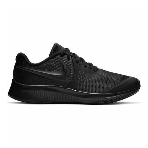 NIKE BOYS GRADE SCHOOL STAR RUNNER KIDS SHOE BLACK/ANTHRACITE/BLACK/VOLT
