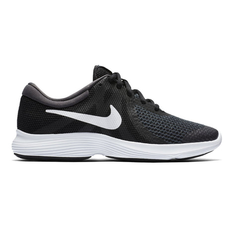 NIKE BOYS GRADE SCHOOL REVOLUTION 4 KIDS SHOE BLACK/WHITE/ANTHRACITE