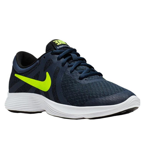 NIKE BOYS GRADE SCHOOL REVOLUTION 4 KIDS SHOE MIDNIGHT/VOLT/BLACK