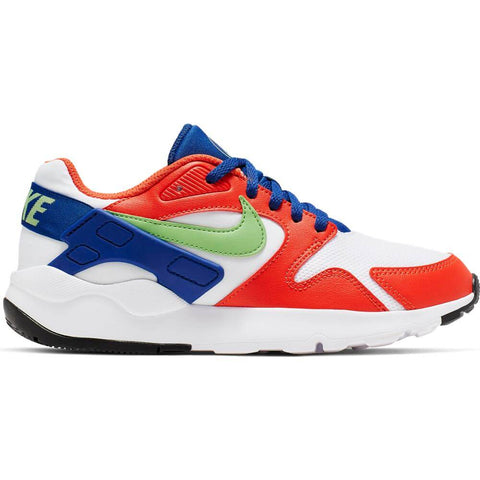 NIKE BOYS GRADE SCHOOL LD VICTORY KIDS SHOE WHITE/GREEN/ORANGE