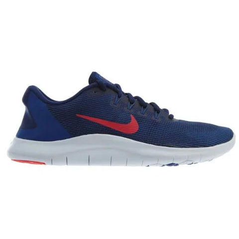 NIKE BOYS GRADE SCHOOL FLEX CONTACT 3 KIDS SHOE NAVY/RED/WHITE