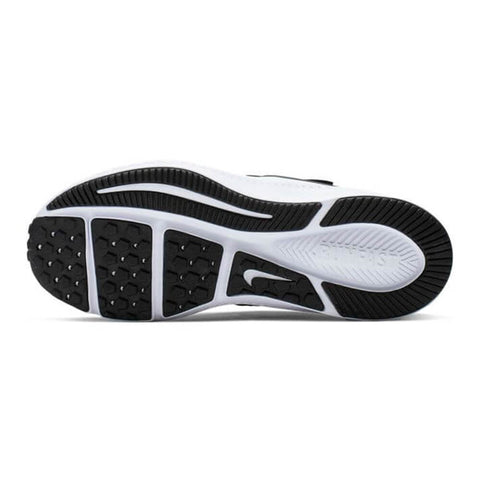 NIKE BOYS PRE-SCHOOL V STAR RUNNER 2 KIDS SHOE BLACK/WHITE/BLACK/VOLT BOTTOM SOLE