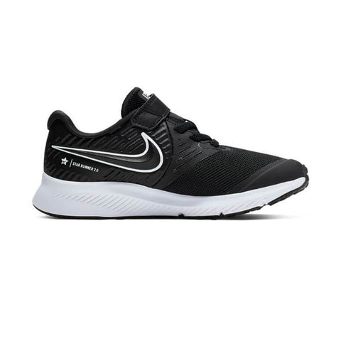 NIKE BOYS PRE-SCHOOL V STAR RUNNER 2 KIDS SHOE BLACK/WHITE/BLACK/VOLT