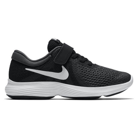 NIKE BOYS PRE-SCHOOL REVOLUTION 4 KIDS SHOE BLACK/WHITE/ANTHRACITE