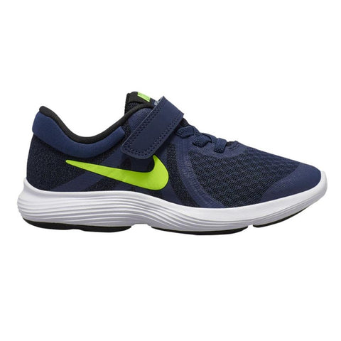 NIKE BOYS PRE-SCHOOL REVOLUTION 4 KIDS SHOE MIDNIGHT/VOLT/BLACK