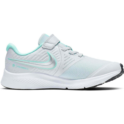 NIKE GIRLS PRE-SCHOOL STAR RUNNER KIDS SHOE METALLIC SILVER