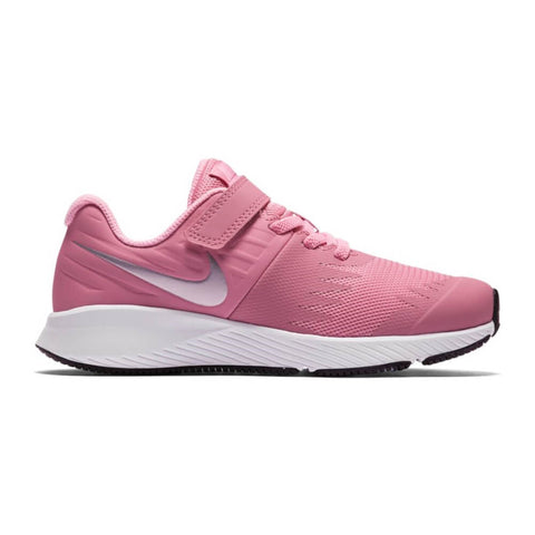 NIKE GIRLS PRE-SCHOOL STAR RUNNER KIDS SHOE PINK/METALLIC SILVER