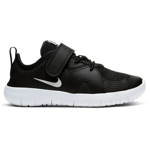 NIKE GIRLS PRE-SCHOOL V FLEX CONTACT 3 KIDS SHOE BLACK/WHITE