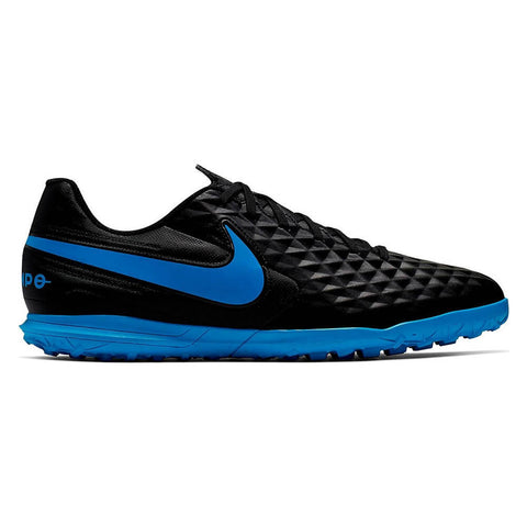 NIKE MEN'S LEGEND 8 CLUB TF TURF INDOOR SOCCER CLEAT BLACK/BLUE HERO