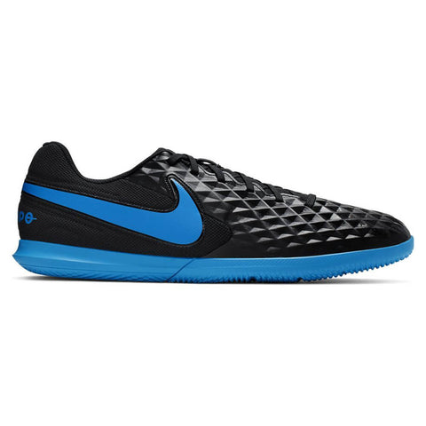 NIKE MEN'S LEGEND 8 CLUB IC INDOOR SOCCER CLEAT BLACK/BLUE HERO