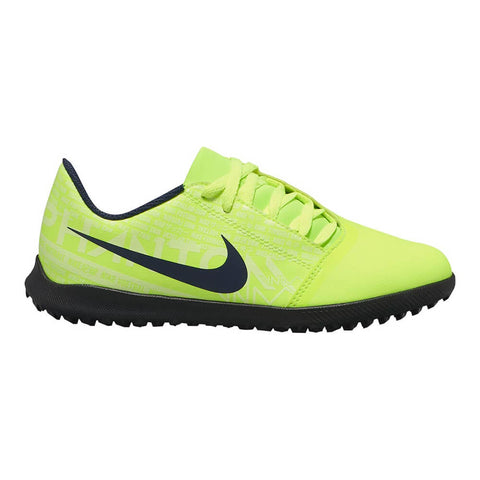 NIKE JUNIOR PHANTOM VENOM CLUB TF TURF INDOOR SOCCER CLEAT BLACK/VOLT