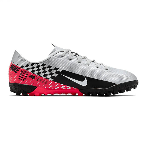 NIKE JUNIOR VAPOR 13 ACADEMY NJR TF TURF INDOOR SOCCER CLEAT BLACK/RED/WHITE