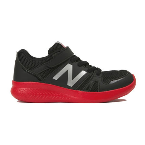 NEW BALANCE BOYS PRE-SCHOOL 570PB KIDS SHOE BLACK/FLASH RED