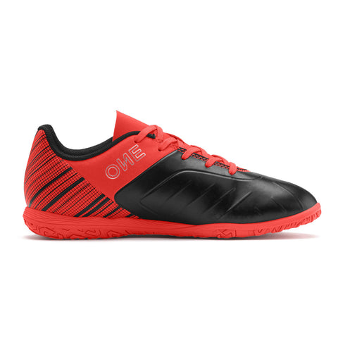 PUMA JUNIOR ONE 5.4 IT INDOOR SOCCER CLEAT BLACK/RED/SILVER