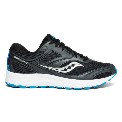 SAUCONY MEN'S COHESION 12 RUNNING SHOE BLACK/BLUE