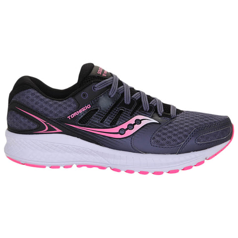 SAUCONY WOMEN'S TORNADO 2 RUNNING SHOE GREY/PINK