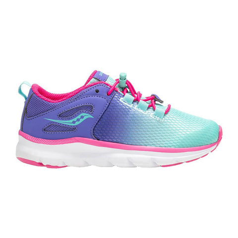 SAUCONY GIRLS PRE-SCHOOL S-FUSHION KIDS SHOE PERIWINKLE/TURQUOISE