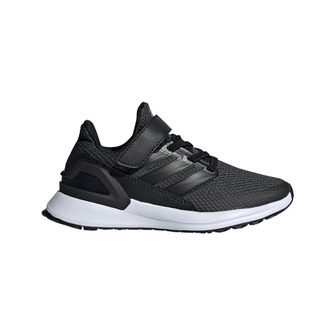 ADIDAS BOYS PRE-SCHOOL RAPID RUN EL X KIDS SHOE BLACK/BLACK
