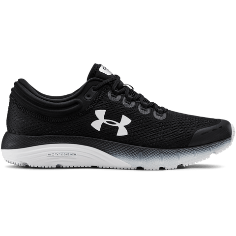 UNDER ARMOUR MEN'S CHARGED BANDIT 5 RUNNING SHOE BLACK/WHITE/BLACK