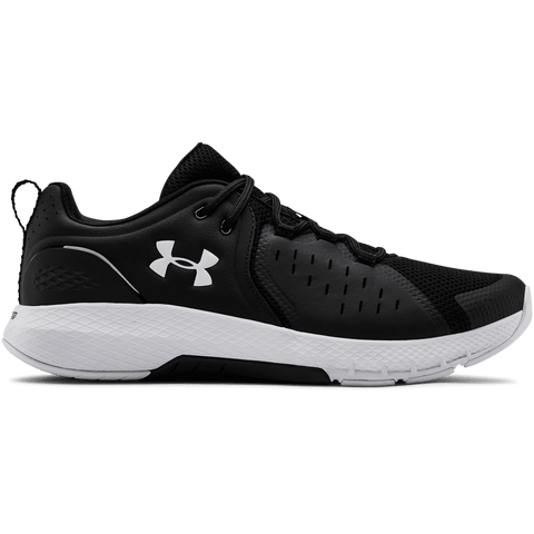 UNDER ARMOUR MEN'S CHARGED COMMIT TR 2.0 TRAINING SHOE BLACK/WHITE/WHITE