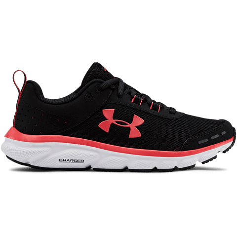 UNDER ARMOUR WOMEN'S CHARGED ASSERT 8 RUNNING SHOE BLACK/WHITE/DAI