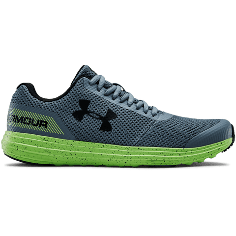 UNDER ARMOUR BOYS GRADE SCHOOL SURGE RN KIDS SHOE GREY/LIME/BLACK