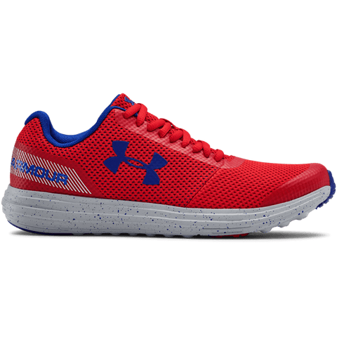 UNDER ARMOUR BOYS GRADE SCHOOL SURGE RN KIDS SHOE RED/GREY/ROYAL